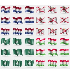 Netherlands jersey macau tajikistan set of 36 vector