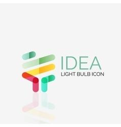 Logo light bulb abstract linear geometric vector