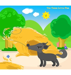 The three little pigs 4 the big bad wolf vector