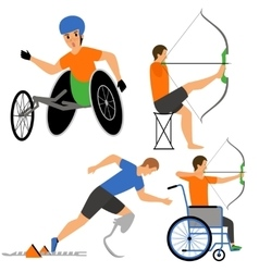 Disabled people in sport competition vector