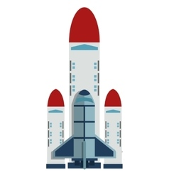 Space shuttle icon vector