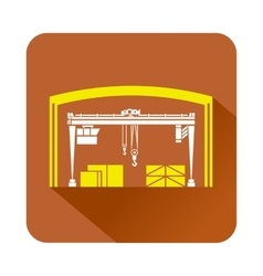 Storage and loading icon flat style vector