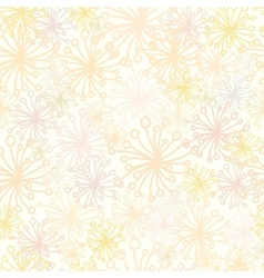 Abstract Fluffy Plants Seamless Pattern Background vector image vector image