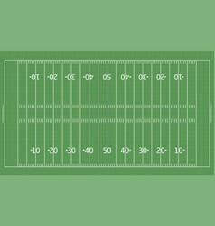 american football green field vector image vector image