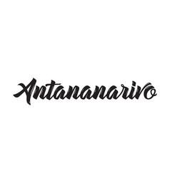 Antananarivo text design calligraphy vector