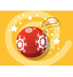 Ball icon christmas vector image vector image