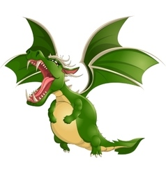 Beautiful dragon on a white background vector
