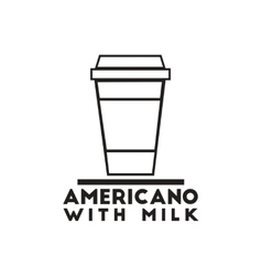 black icon on white background americano vector image