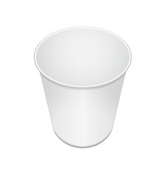 blank open food cup container for fast food vector image