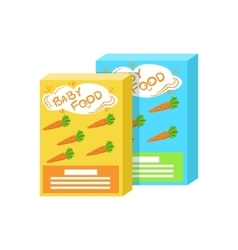 Carton boxes with fresh carrot juice supplemental vector