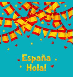 Celebration background with garlands waving vector