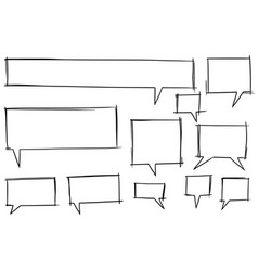 comic speech text bubbles set06 vector image