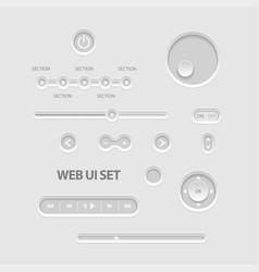 dark web ui elements vector image vector image