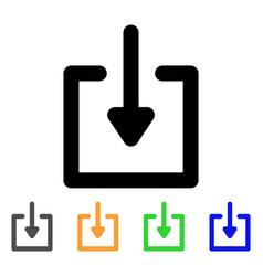 Download stroke icon vector
