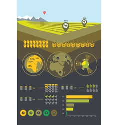 Farming and agriculture infographics vector