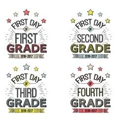 First day of school signsthese can be framed vector