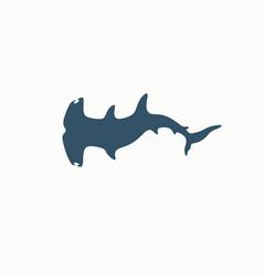 hammerhead shark logo vector image vector image