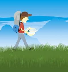 Hiker vector