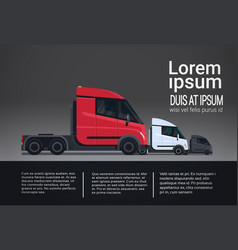infographic set of cargo truck trailer vehicle vector image vector image