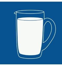 Milk or juice jug vector image vector image