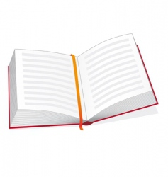 open book with a bookmark vector image vector image