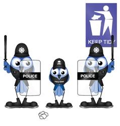 Policeman litterlout vector