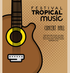 poster festival tropical music vector image vector image