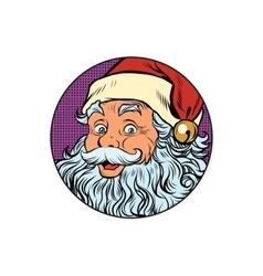 Santa Claus portrait in the round vector image vector image