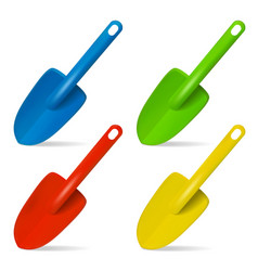 scoop plastic toy for playing in sand set of vector image vector image