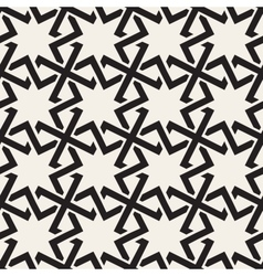 Seamless Black White Geometric Islamic Star vector image
