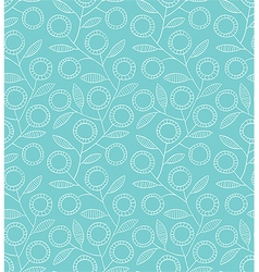 Seamless blue floral pattern vector image