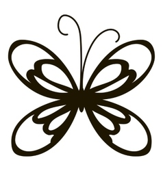 Small butterfly icon simple style vector