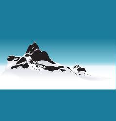 Snowy mountain vector