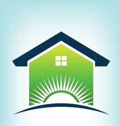 Solar House Logo vector image