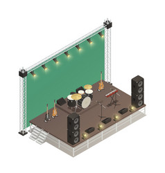 stage isometric vector image vector image