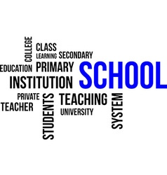word cloud school vector image vector image