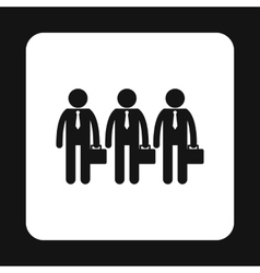 Business team icon simple style vector