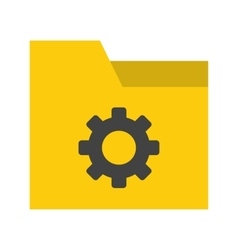 Folder settings vector
