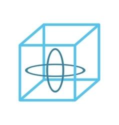 Vr 3d model 360 degree technology vector