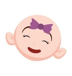 happy baby face icon image vector image