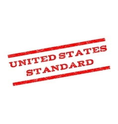 United states standard watermark stamp vector