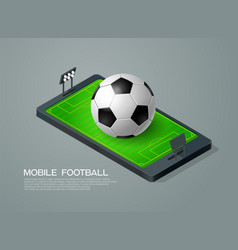 Mobile football vector