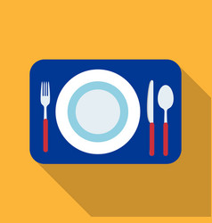 Served table icon in flat style isolated on white vector