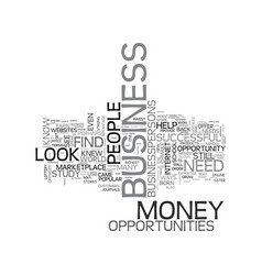 A new way to earn money how to find business vector