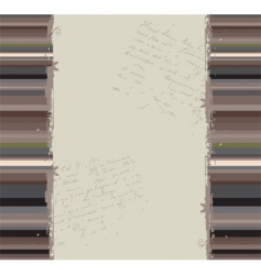 grunge striped banner vector image