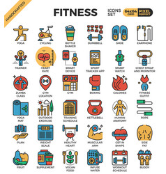 Fitness exercise icons vector