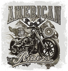 Hot rod american riders vector