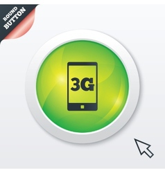 3g sign mobile telecommunications technology vector