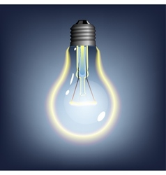 Glowing lightbulb vector