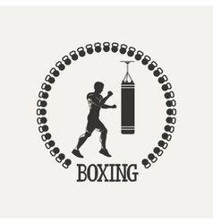 Cross training boxing logo vector